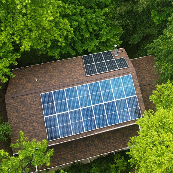 Image of rooftop solar installation