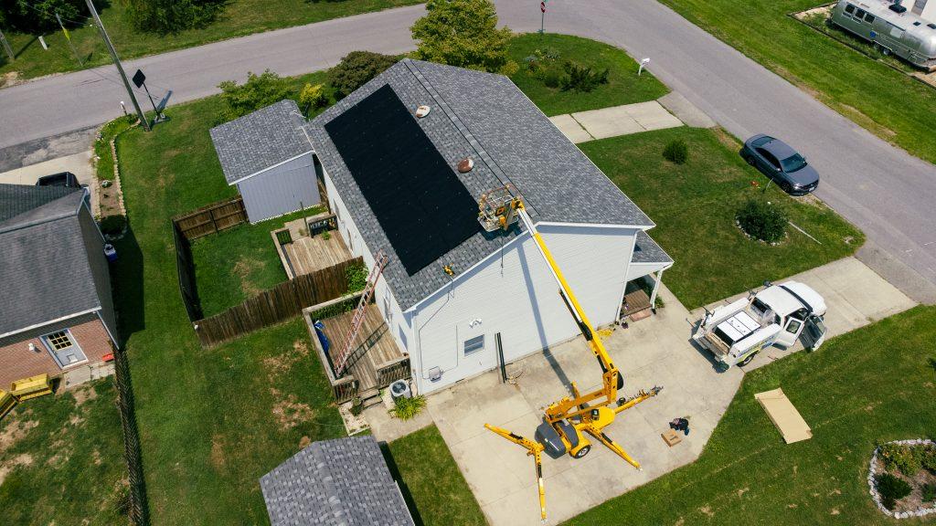 Solar array in Christiansburg, Virginia