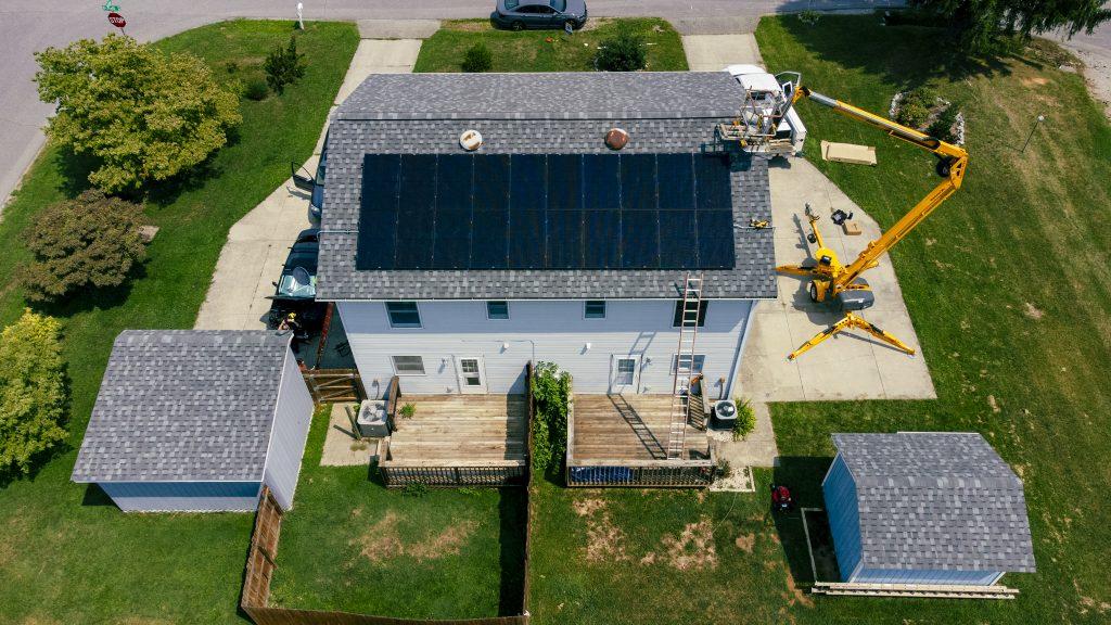 Solar array in-progress in Christiansburg, Virginia.